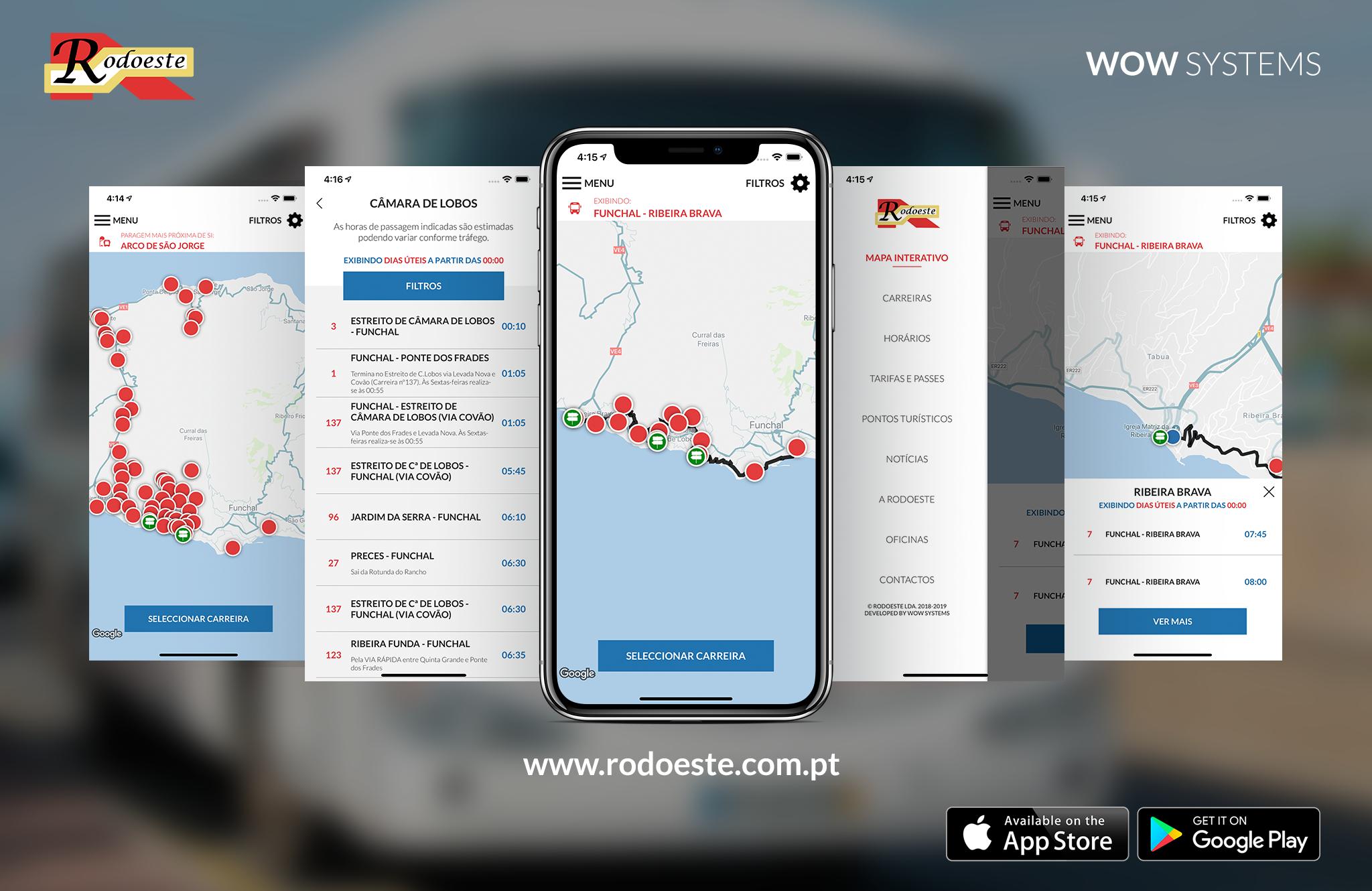 Aplicação móvel Rodoeste disponível!