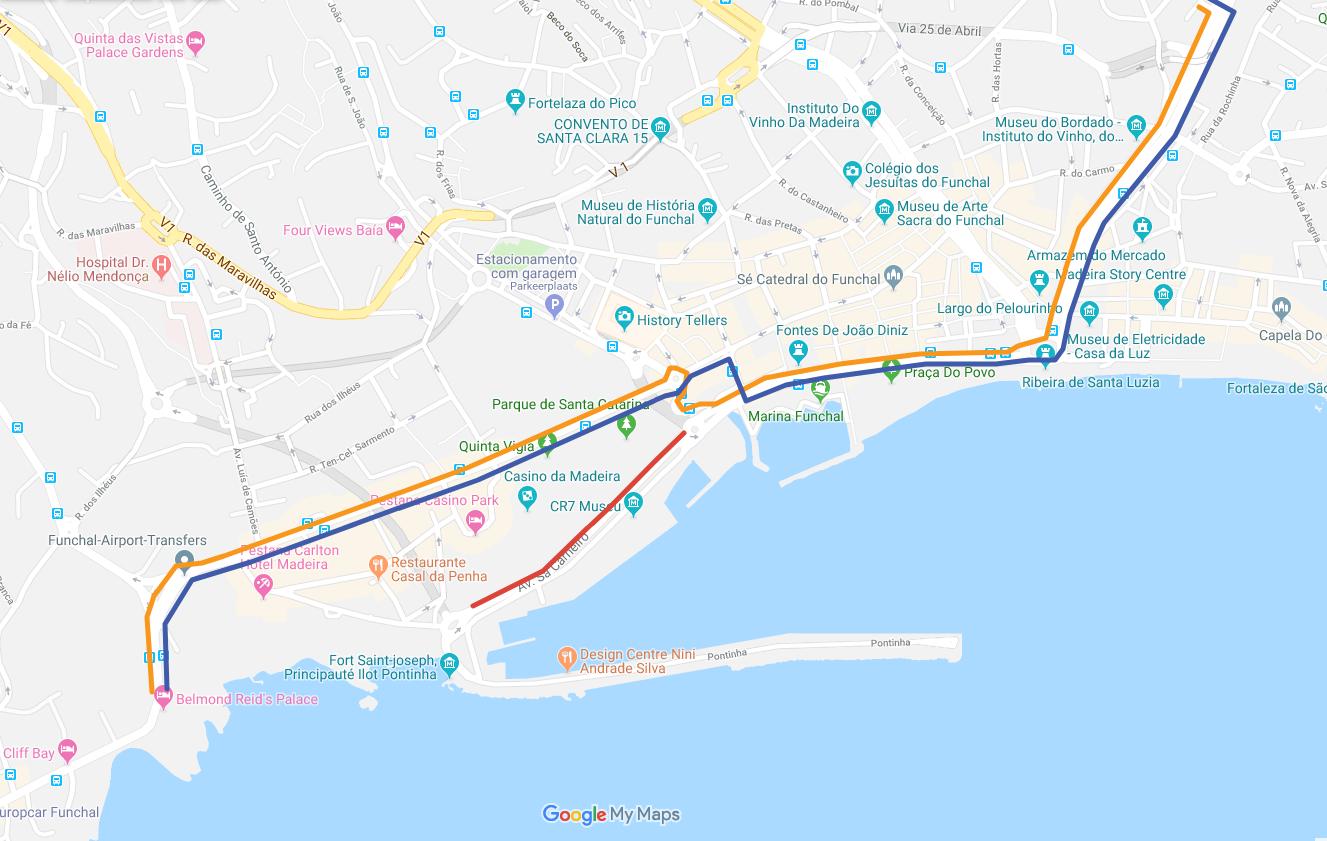 Interrupção de trânsito no Funchal