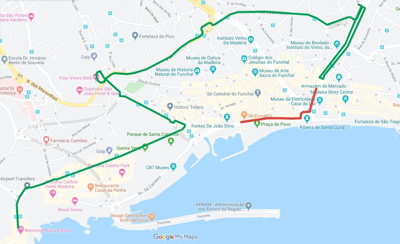 Interrupção de trânsito no Funchal no dia 22 de novembro
