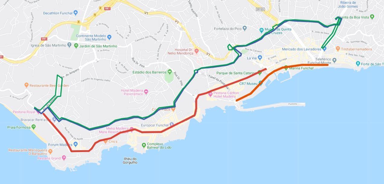 Interrupção de trânsito no Funchal no dia 19 de janeiro